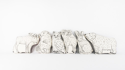 Image: STUFF Canadian animals line of pillows.