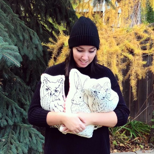 Image: Erin Nagy with STUFF pillows.